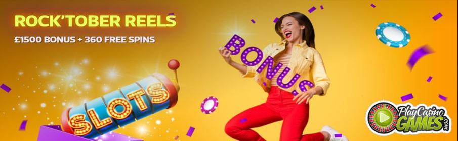 Play Casino Games - Up to £1500 Bonus + 360 Free Spins