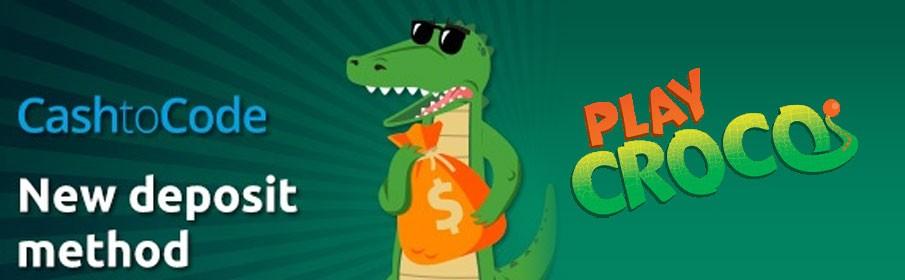PlayCroco Casino Match Deposit Bonus