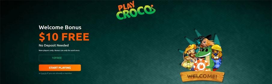 PlayCroco Casino No Deposit Bonus