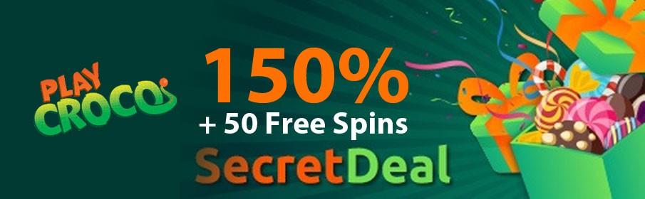 PlayCroco Casino Secret Deal Bonus