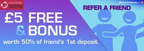 Pocketwin Casino Refer a Friend