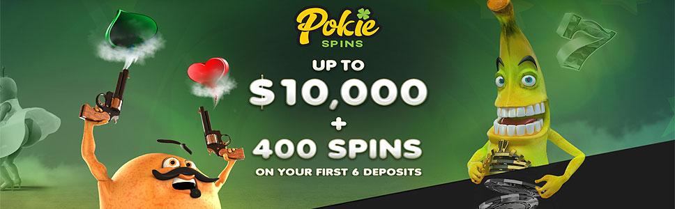 Pokie Spiins Casino Welcome Bonus