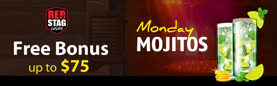 Red Stag Casino Monday Mojitos Free Bonus up to $75