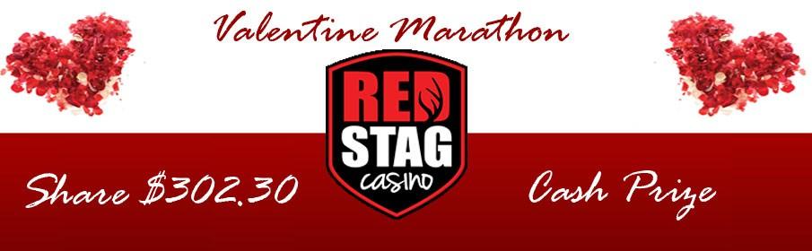 Red Stag Casino Valentine Marathon - $302.30 Cash Prize