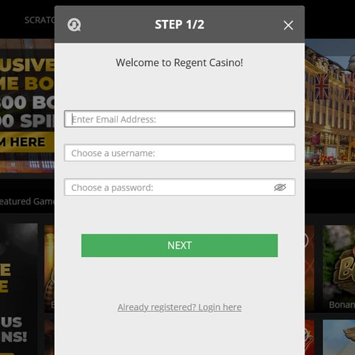 Regent Casino Sign Up