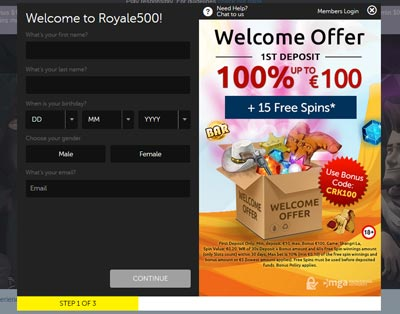 Royale Casino Sign Up