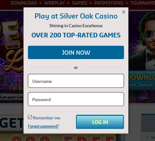 Silver Oak Casino Login