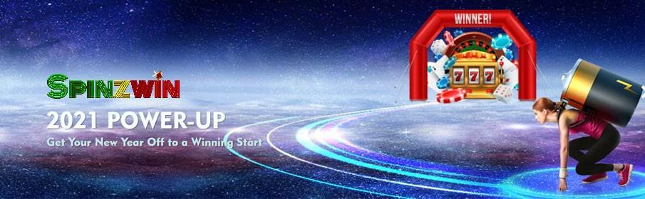 SpinzWin Casino Power up 2021 Bonus