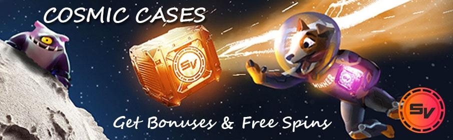 SlotV Casino Cosmic Cases Promotion