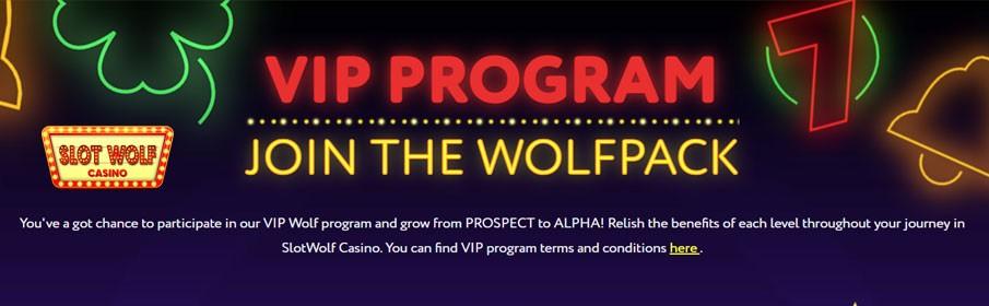 Slot Wolf Casino VIP Program