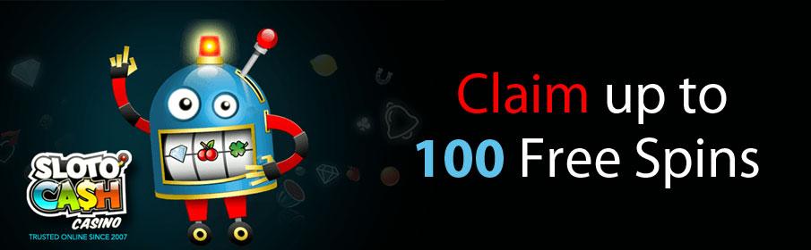 SlotoCash Casino 100 Free Spins Bonus
