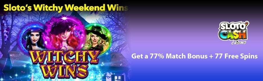 SlotoCash Casino - Get a 77% Match Bonus