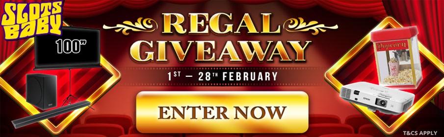 Slots Baby Casino Regal Giveaway Bonus
