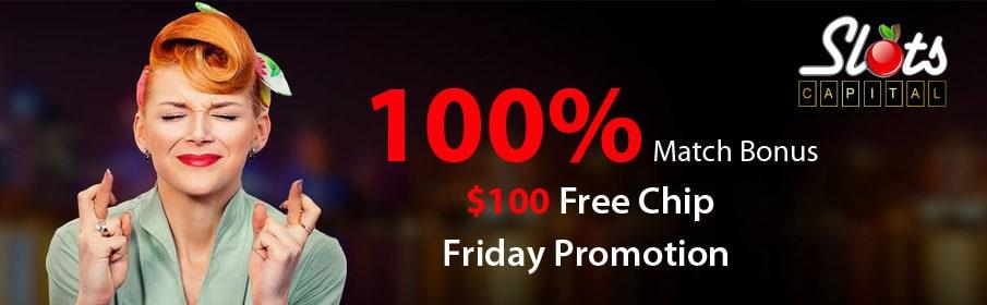 Slots Capital Casino 100% Friday Match Bonus