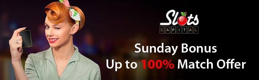 Slots Capital Casino Sunday Bonus
