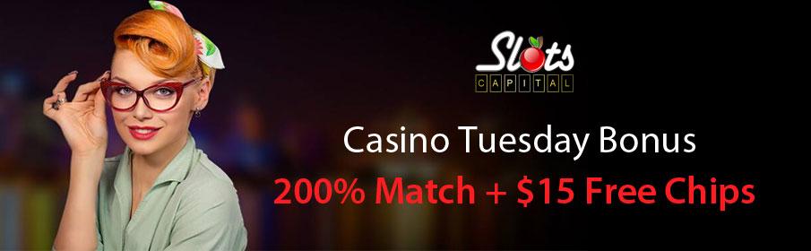Slots Capital Casino Tuesday Bonus
