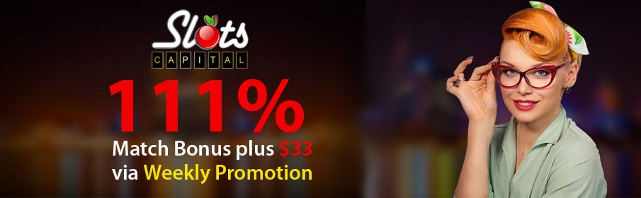 Slots Capital Casino Weekly offer