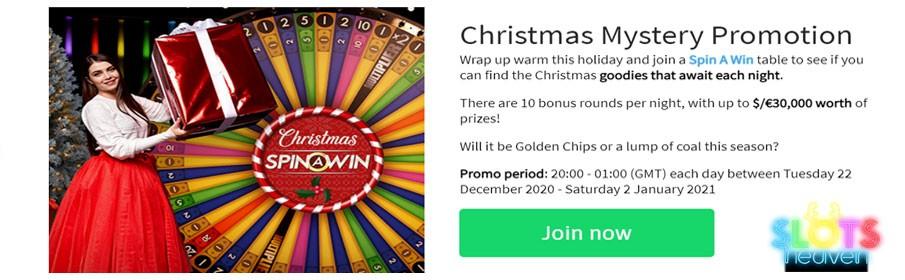 Slots Heaven Casino Mystery Christmas Promotion