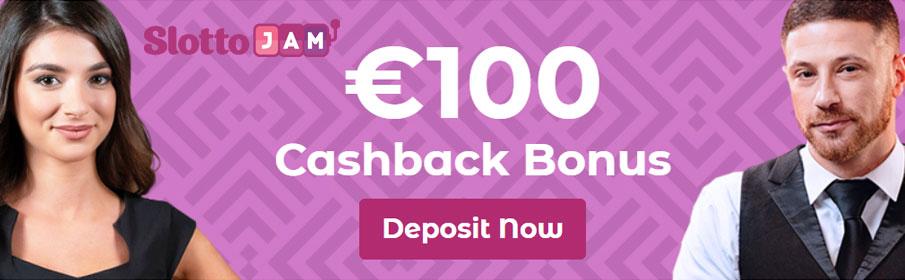 Slottojam Casino €100 Weekly Cashback Bonus