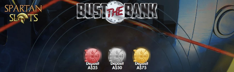 Spartan Slots Casino Bust the Bank Promotion