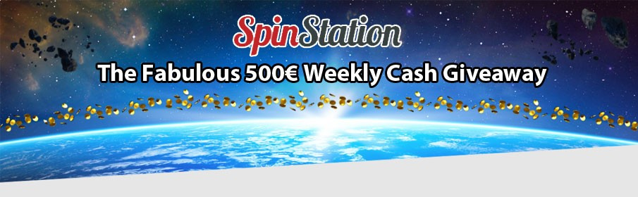 Spin Station Casino €500 Weekly Cash Prize Giveaway