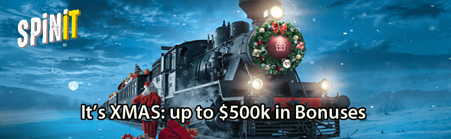 Prize Pool of $500,000 via Christmas Promotion at Spinit Casino
