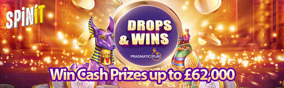Spinit Casino Drops & Win Offer - £62,000 Prize Pool