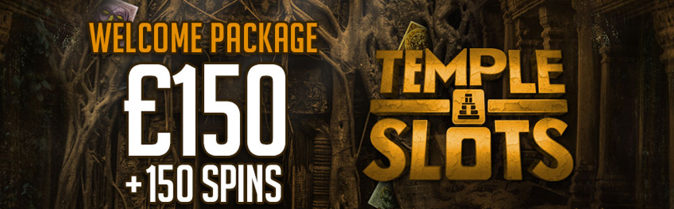 Temple Slots Casino Welcome Bonus Up To 150 Plus 150 Free Spins