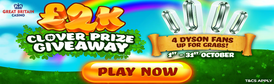 The Great Britain Casino Clover Prize Giveaway