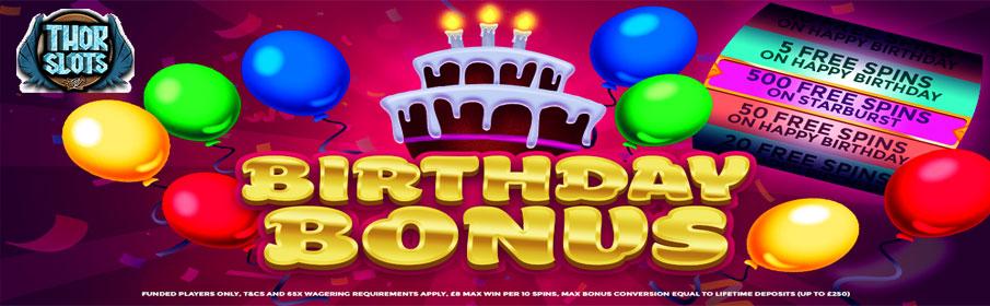 Thor Slots Casino Birthday Bonus