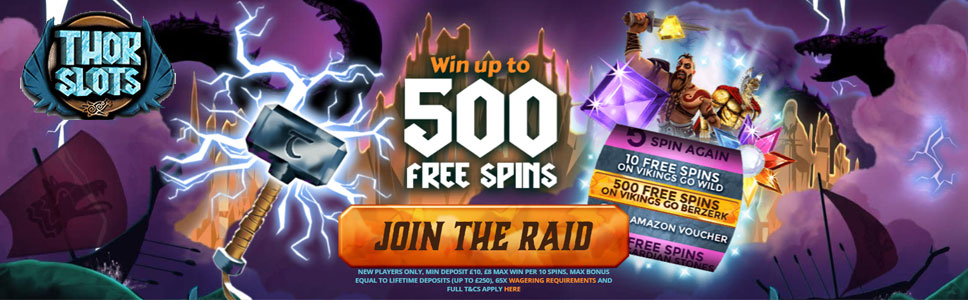 Thor Slots Casino Free Spins of the Month