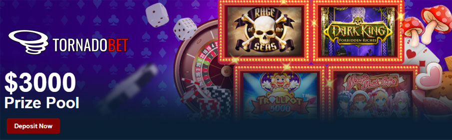 Tornado Bet Casino Slot of the Week Bonus
