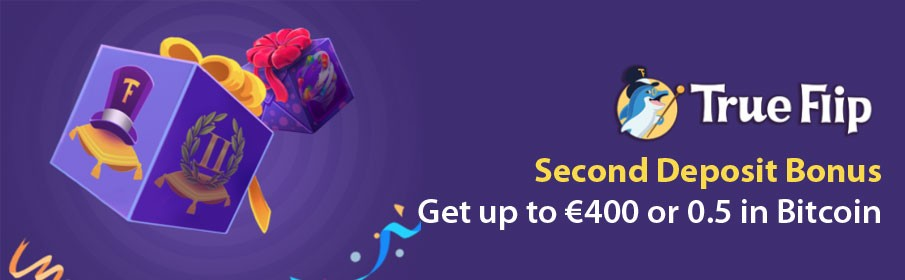 Trueflip Casino Second Deposit Bonus