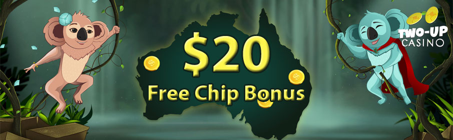 Two Up Casino Free Chip Bonus