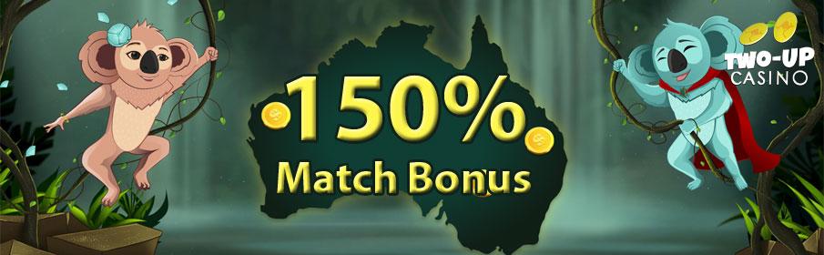 Two-Up Casino First Deposit Bonus