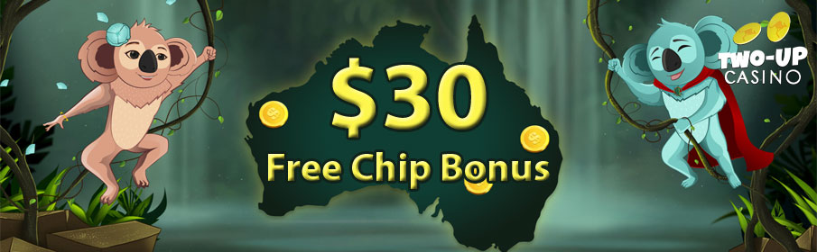 Two Up Casino Free Chip Bonus