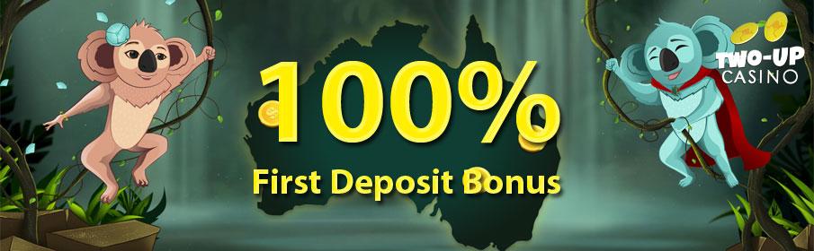 Two Up Casino First Deposit Bonus