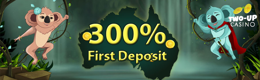 Two up Casino First Deposit Bonus