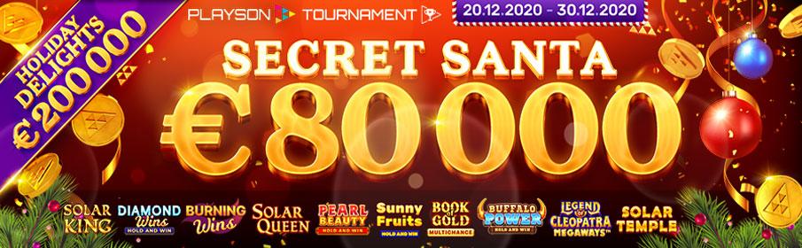 Vbet Casino Secret Santa €80,000 Christmas Tournament