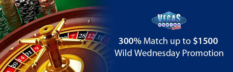 Vegas Casino Online 300% Match Bonus