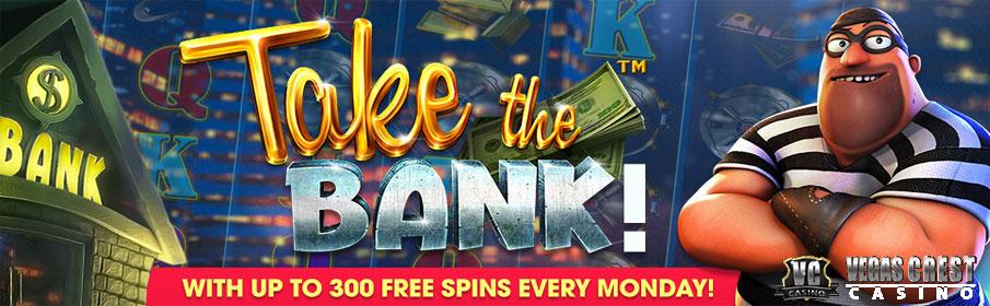 Vegas Crest Casino 300 Free Spins Bonus