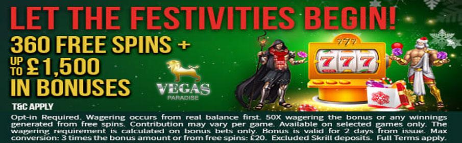 Vegas Paradise Casino December Bonus – Free Spins & Match Offer