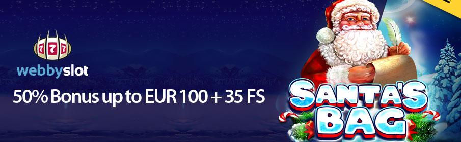 Webby Slots Casino Christmas Bonus