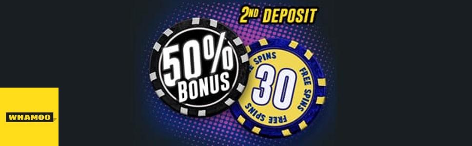 Whamoo Casino Second Deposit Bonus