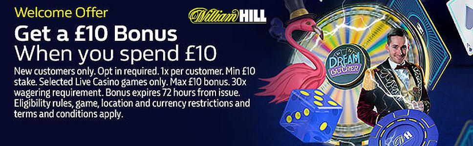 William Hill Games Bonus