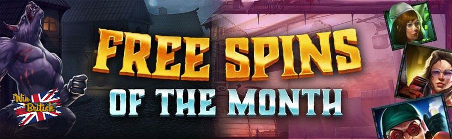 Win British Casino Free Spins of the Month Bonus