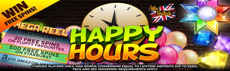 Win British Casino Happy Hour Bonus