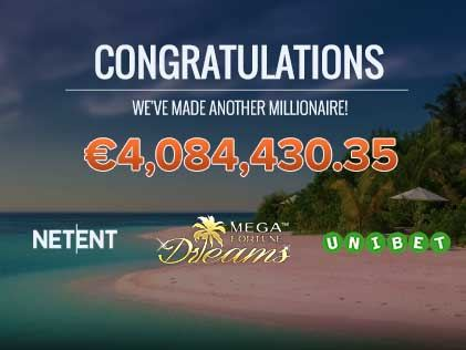 Unibet Player Takes Home €4m While Spinning the Reel of Mega Fortune Dreams!