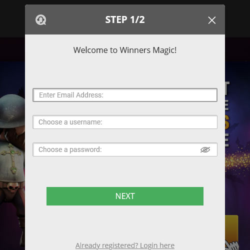 Winners Magic Casino Signup