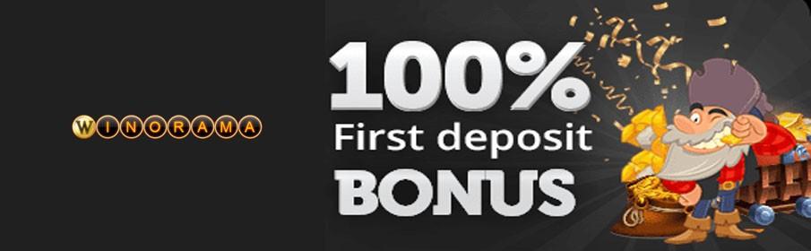 Winorama Casino 100% First Deposit Bonus